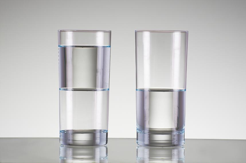 """neither half full nor half empty By dave robison the crowd cheers, """"half-full, half-full"""" buzzer ringsnope, the  answer is neither why are so many people saying the glass."""